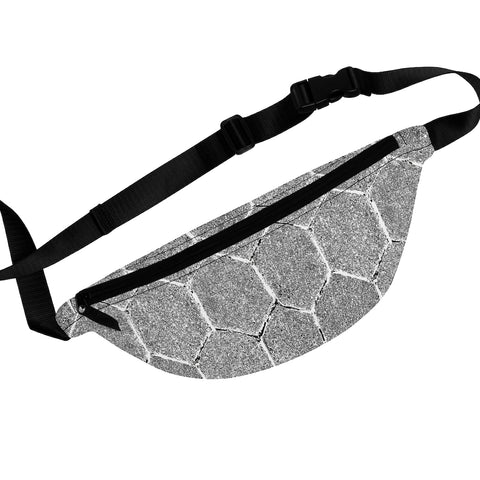 Stone Hexagon Silver Fanny Pack
