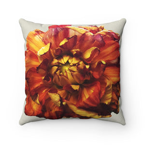 A Blooming Delight Faux Suede Square Pillow