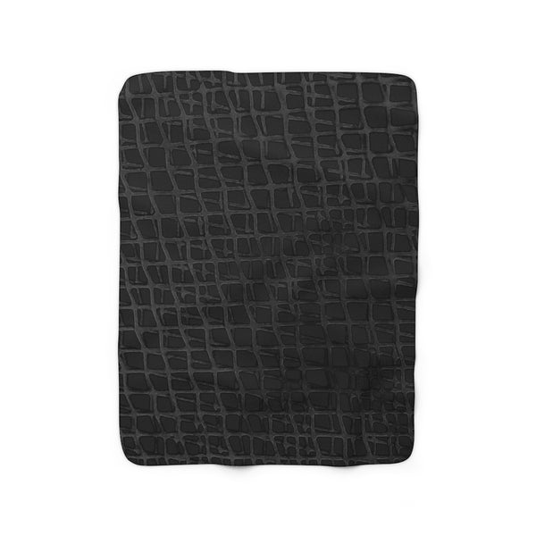 Web BlackBlack Sherpa Fleece Blanket