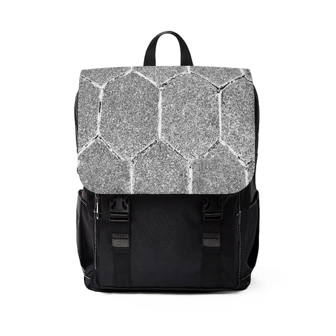 Stone Hexagon Silver  Unisex Backpack