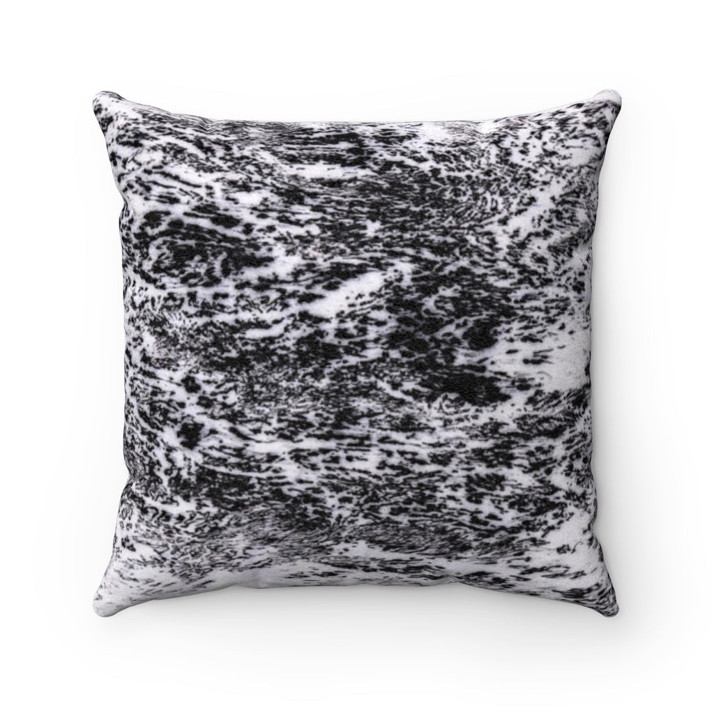 All The While Collection Faux Suede Square Pillow