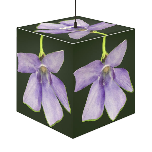 A Purple Flower - Cube Lamp