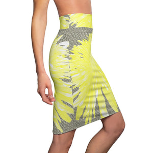 Dandy Yellow - Women's Pencil Skirt