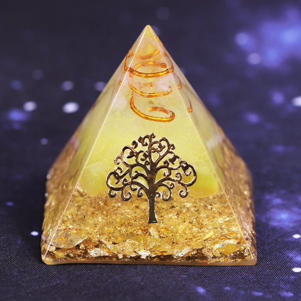 Orgonite Pyramid Tree of Life Energy the Lucky Ceregat Pyramid