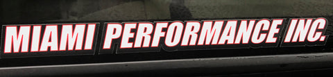 Miami Performance Inc Text Decal