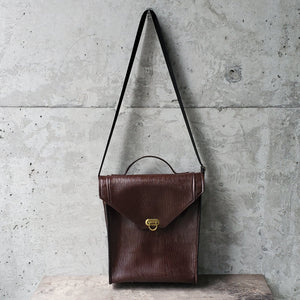 Convertible Maroon Faux Leather Mini Bag