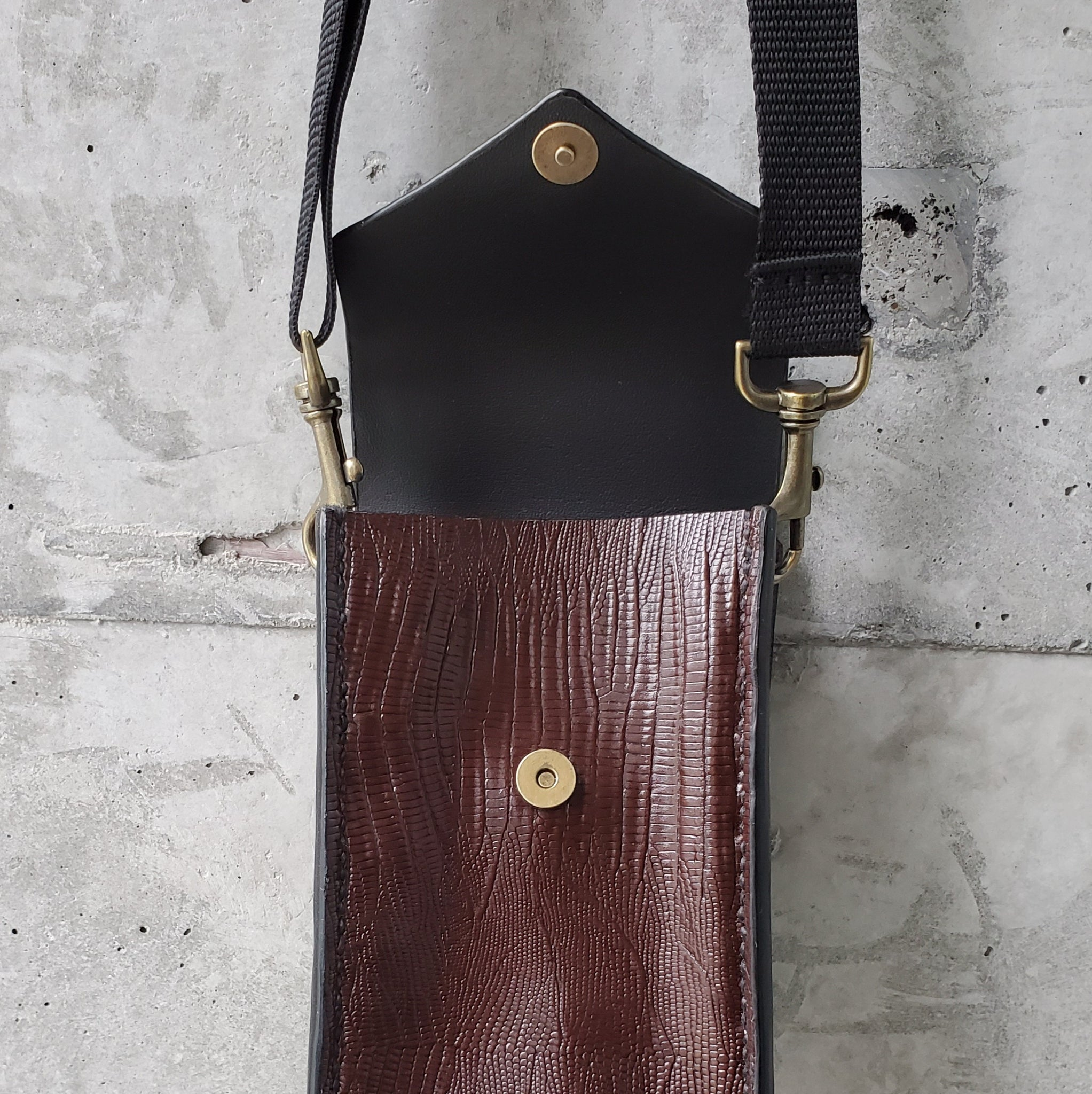 Convertible Maroon Faux Leather Lightpack
