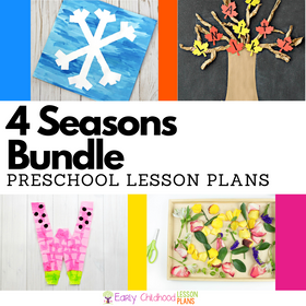 Seasons Preschool Lesson Plans BUNDLE