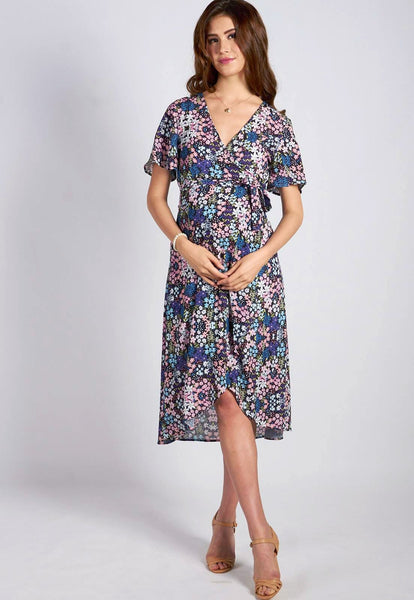 SALE Bring It On Nursing Wrap Dress