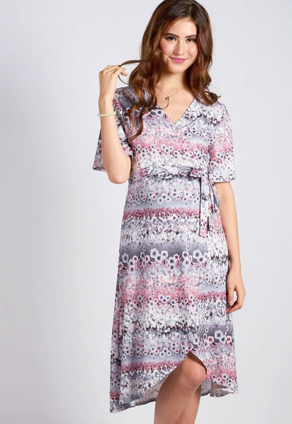 Sweetheart Nursing Wrap Dress