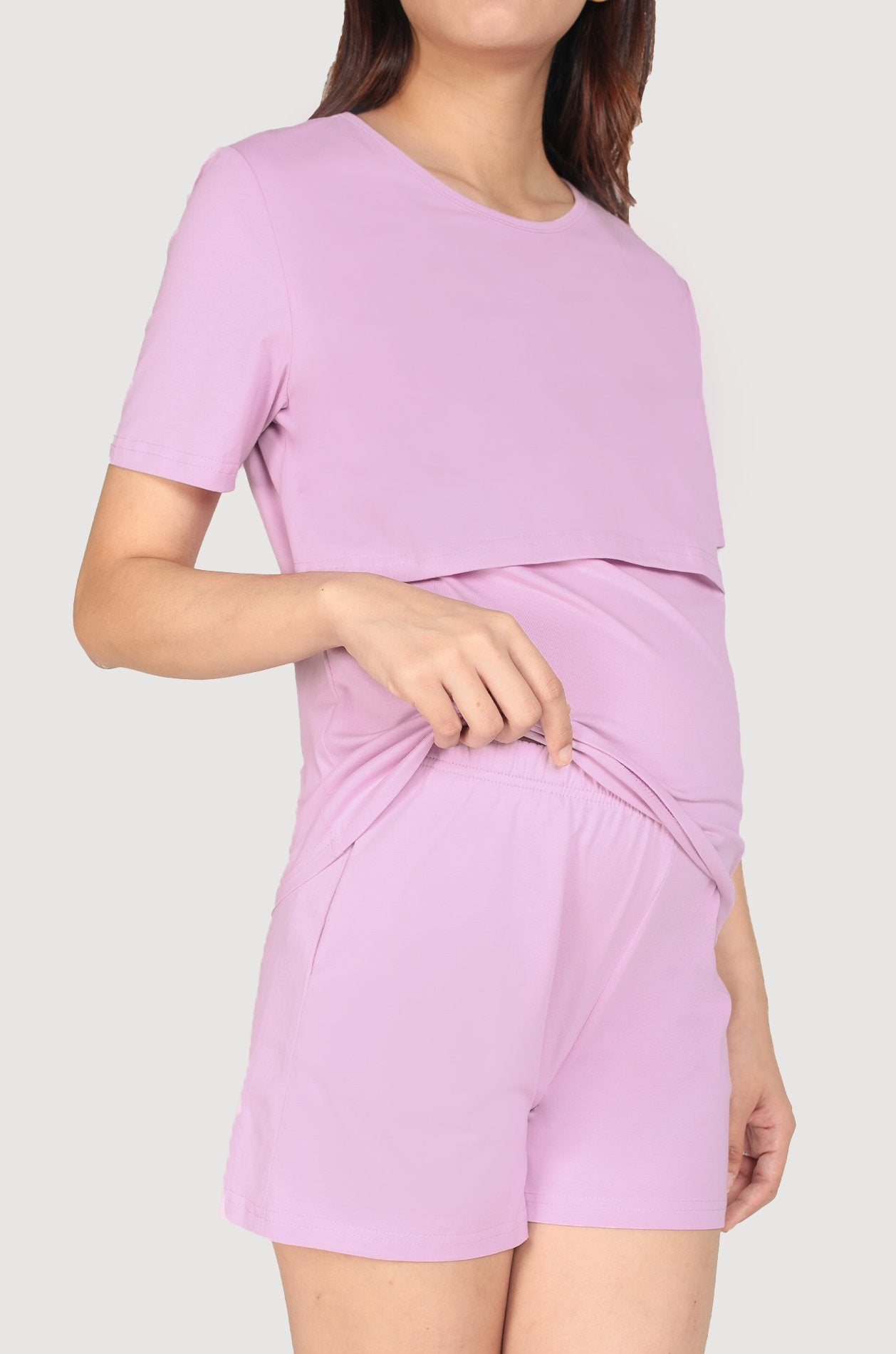 Palma Lounge Shorts In Lavender Nursing Wear Jump Eat Cry