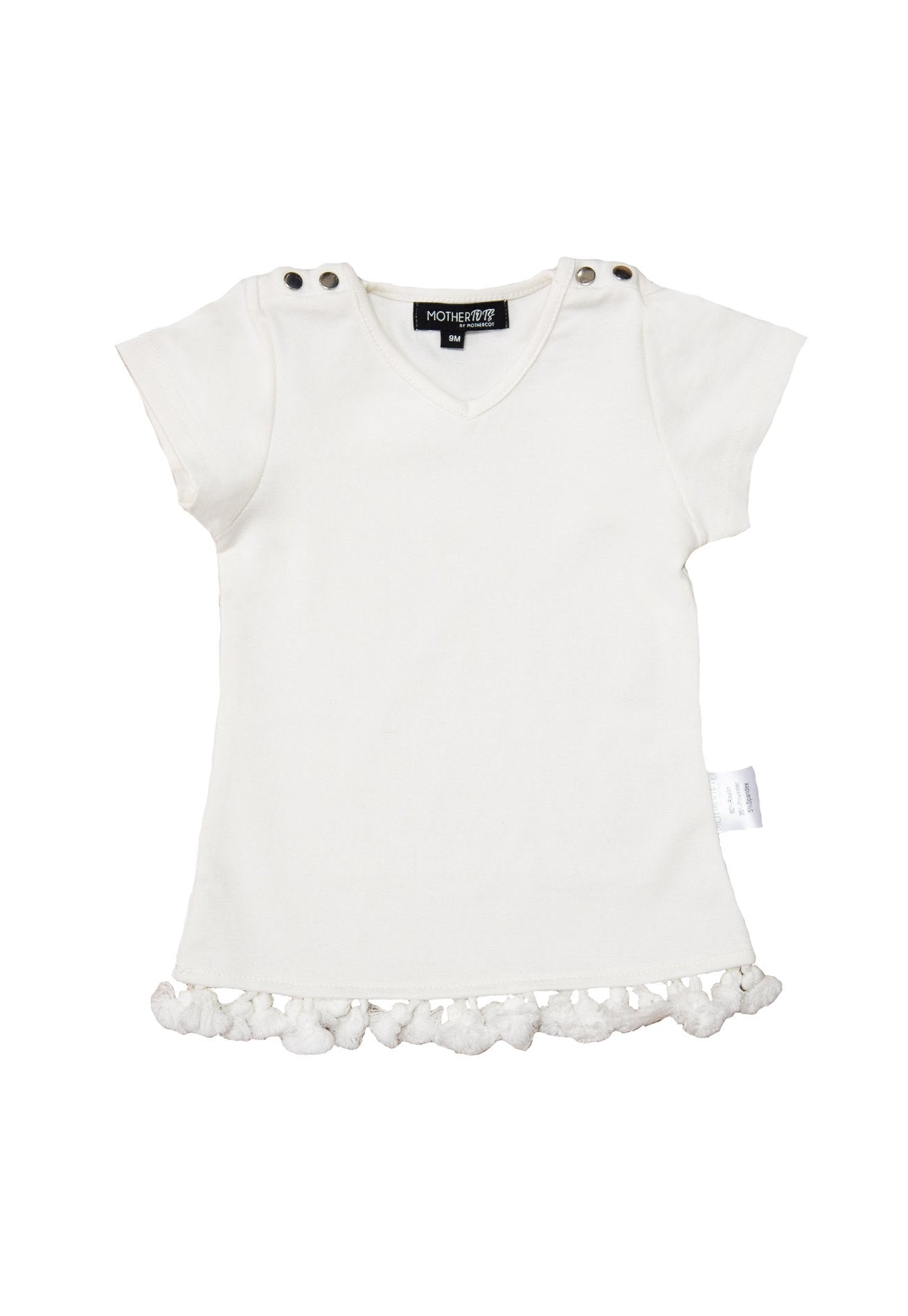 Pompom Baby Girl Tunic Top  by Jump Eat Cry - Maternity and nursing wear