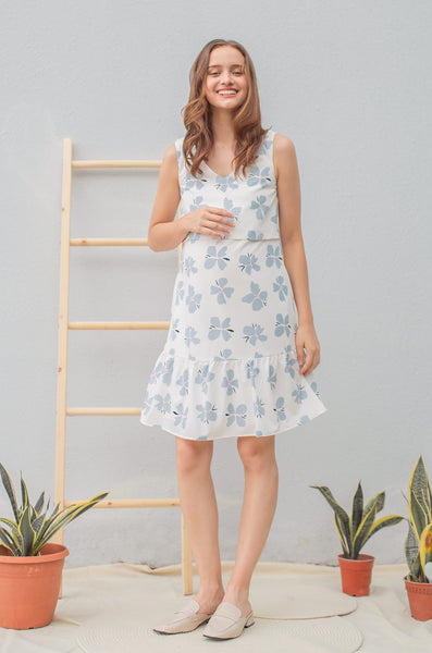 Belle Floral Printed Tiered Nursing Dress