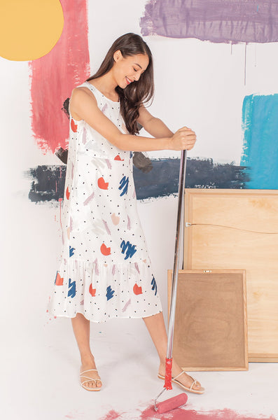 Aspen Print Nursing Dress