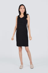 Peyton Ribbon Nursing Dress In Black Nursing Wear Jump Eat Cry