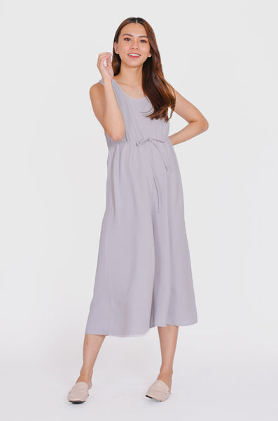 Ariella Nursing Jumpsuit In Dusty Blue