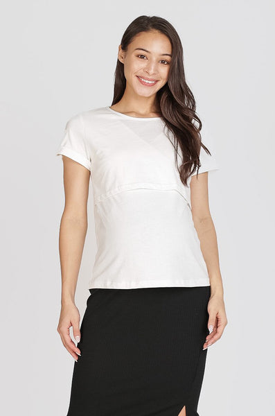 Gina Nursing Shirt In White