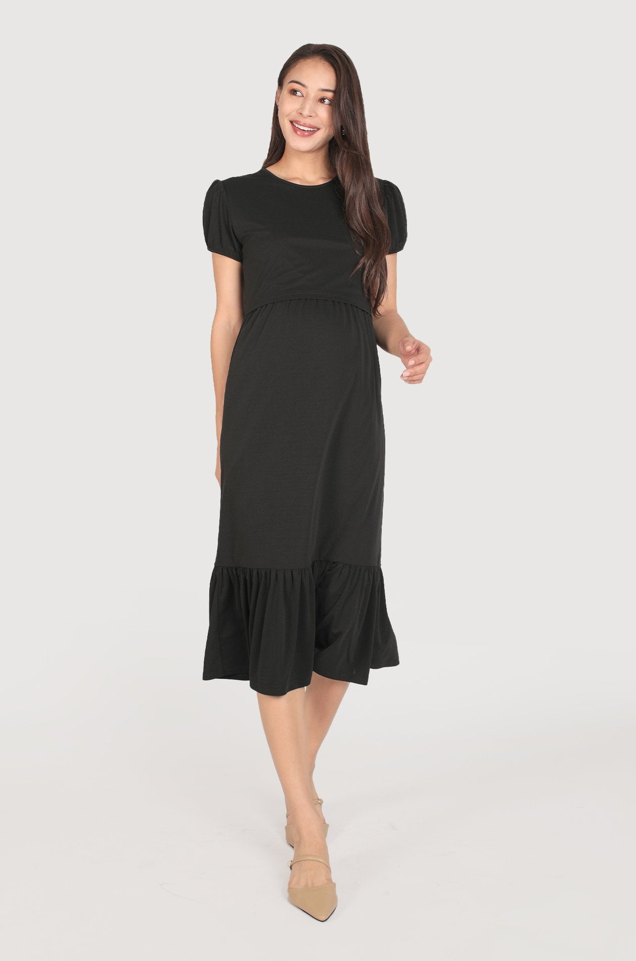 Laura Romantic Lace Nursing Dress  by Jump Eat Cry - Maternity and nursing wear