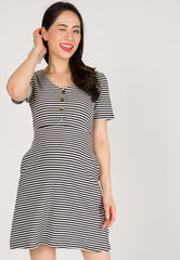 Bring Me Home Nursing Dress in Black  by Jump Eat Cry - Maternity and nursing wear