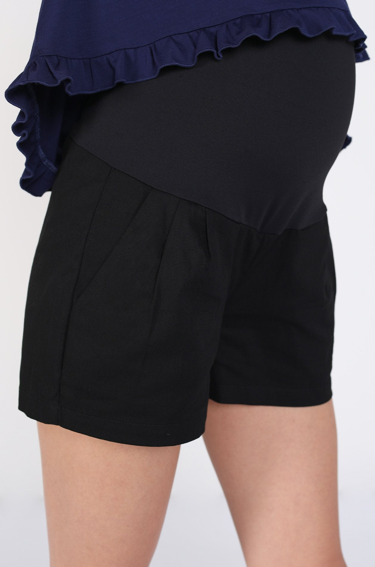 Allie Maternity Shorts In Black Nursing Wear Jump Eat Cry