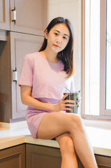 Finley Relaxed Fit Lounge Tee In Lavender Nursing Wear Jump Eat Cry