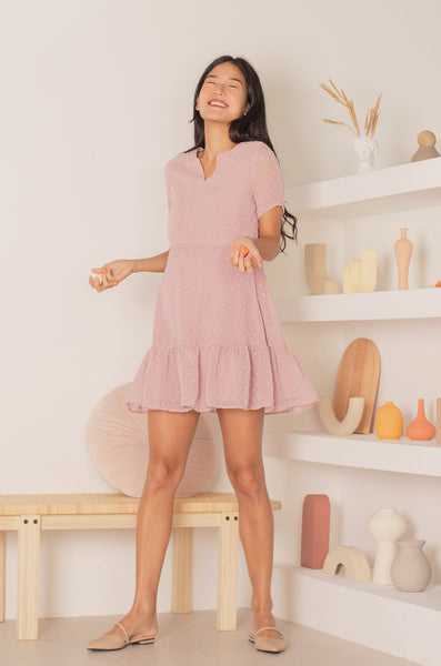 Lauren Scallop Swiss Dot Nursing Dress