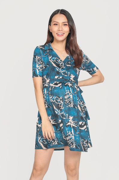 SALE Calithea Collar Nursing Wrap Dress