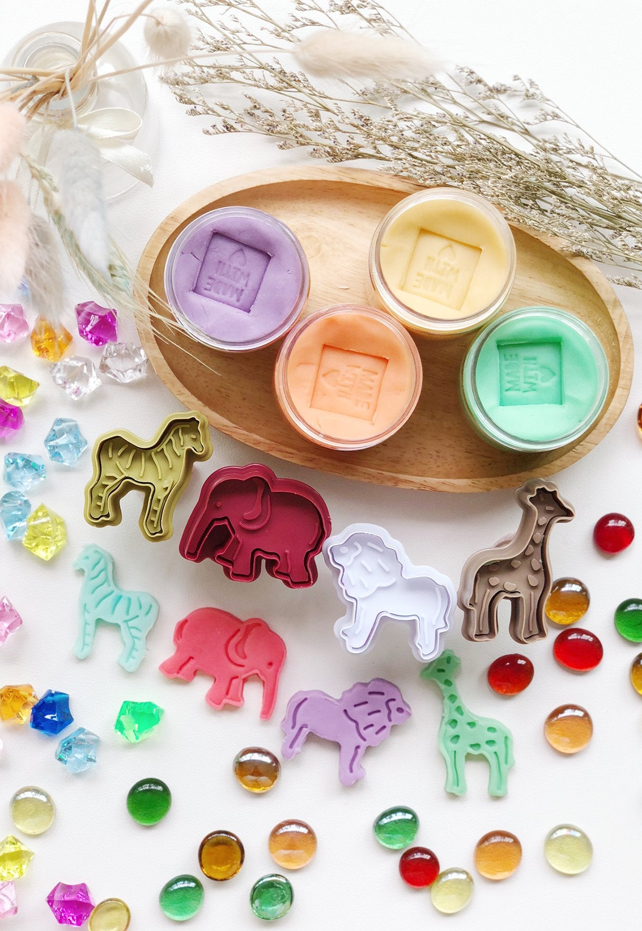The Tiny Trove Animal Safari Play Dough Pack  by Jump Eat Cry - Maternity and nursing wear
