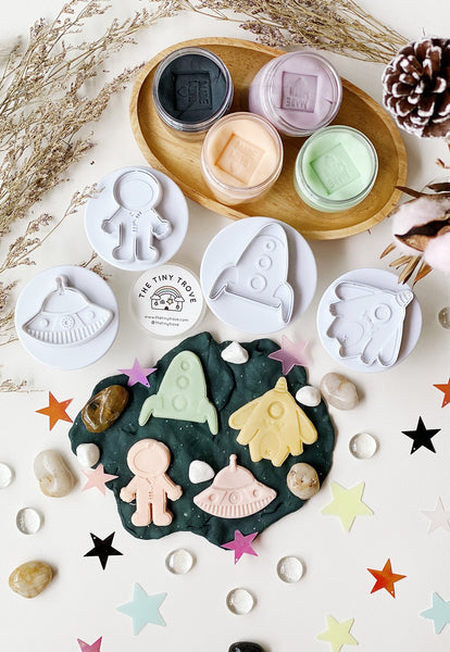 The Tiny Trove X Jump Eat Cry Exclusive Deep Space Play Dough Pack (Jumbo Cutters)