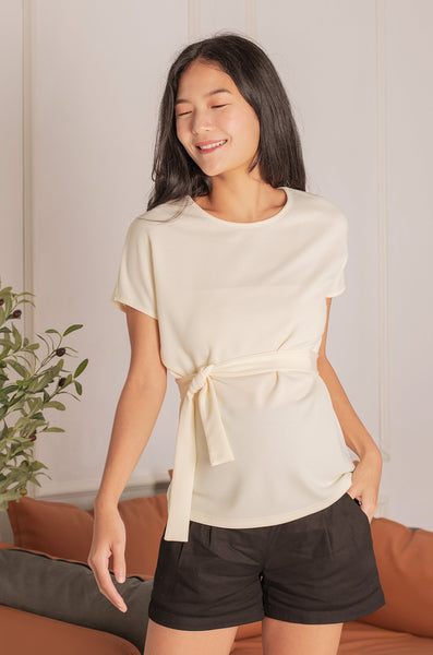 Zedd Cape Nursing Top In Cream