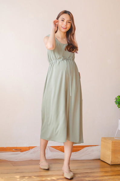 Ariella Nursing Jumpsuit In Sage