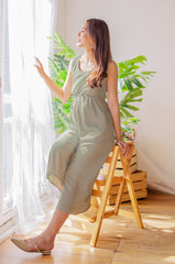 Ariella Nursing Jumpsuit In Sage Nursing Wear Jump Eat Cry