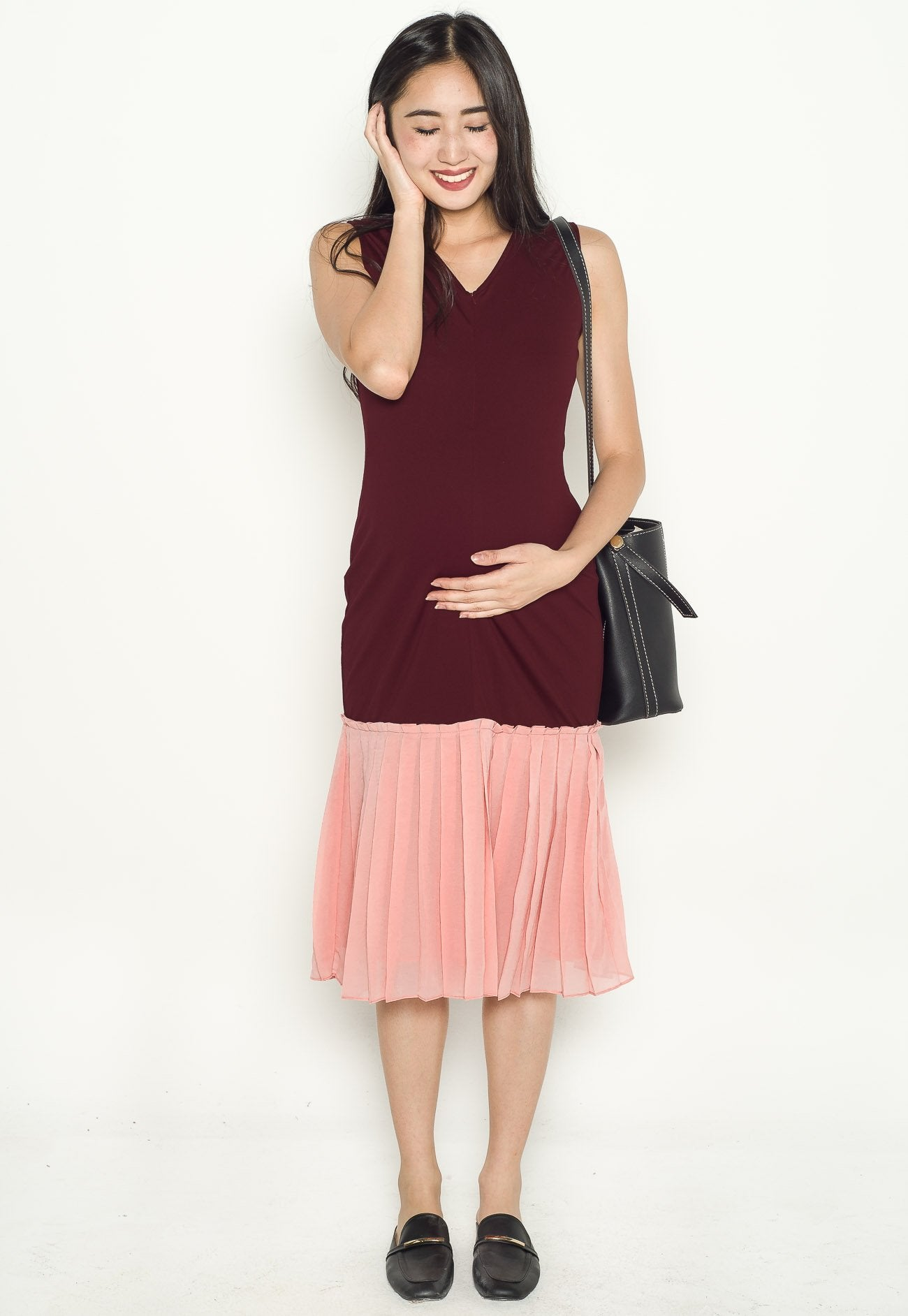 Adora Pleated Nursing Dress  by Jump Eat Cry - Maternity and nursing wear