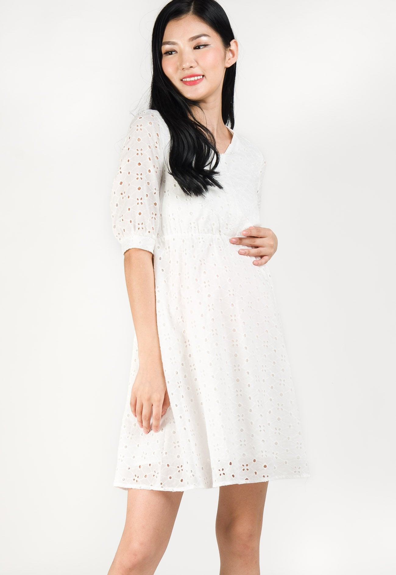 Coco Lace Nursing Dress  by Jump Eat Cry - Maternity and nursing wear