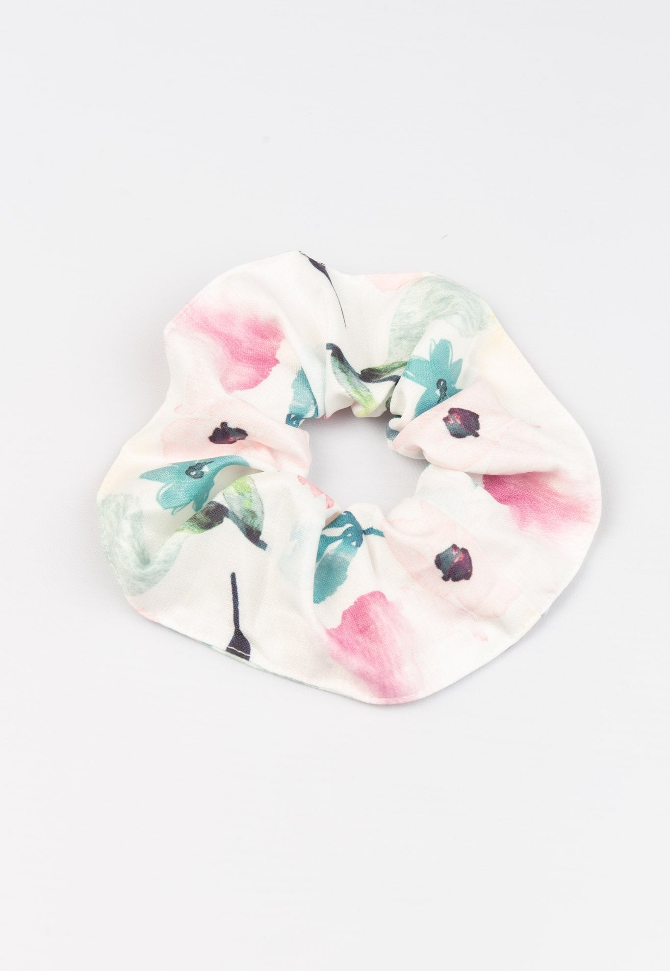 Gabriella Watercolour Floral Printed Scrunchie Accessories Jump Eat Cry