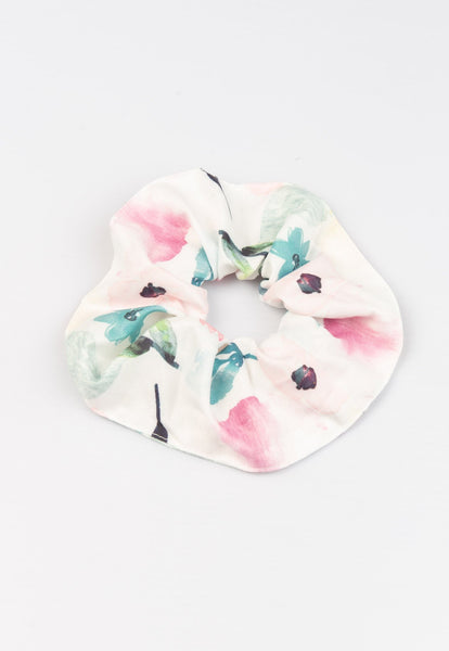 Gabriella Watercolour Floral Printed Scrunchie