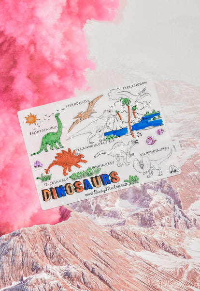 Busy Mat Travel Placemat - Dino Rawr