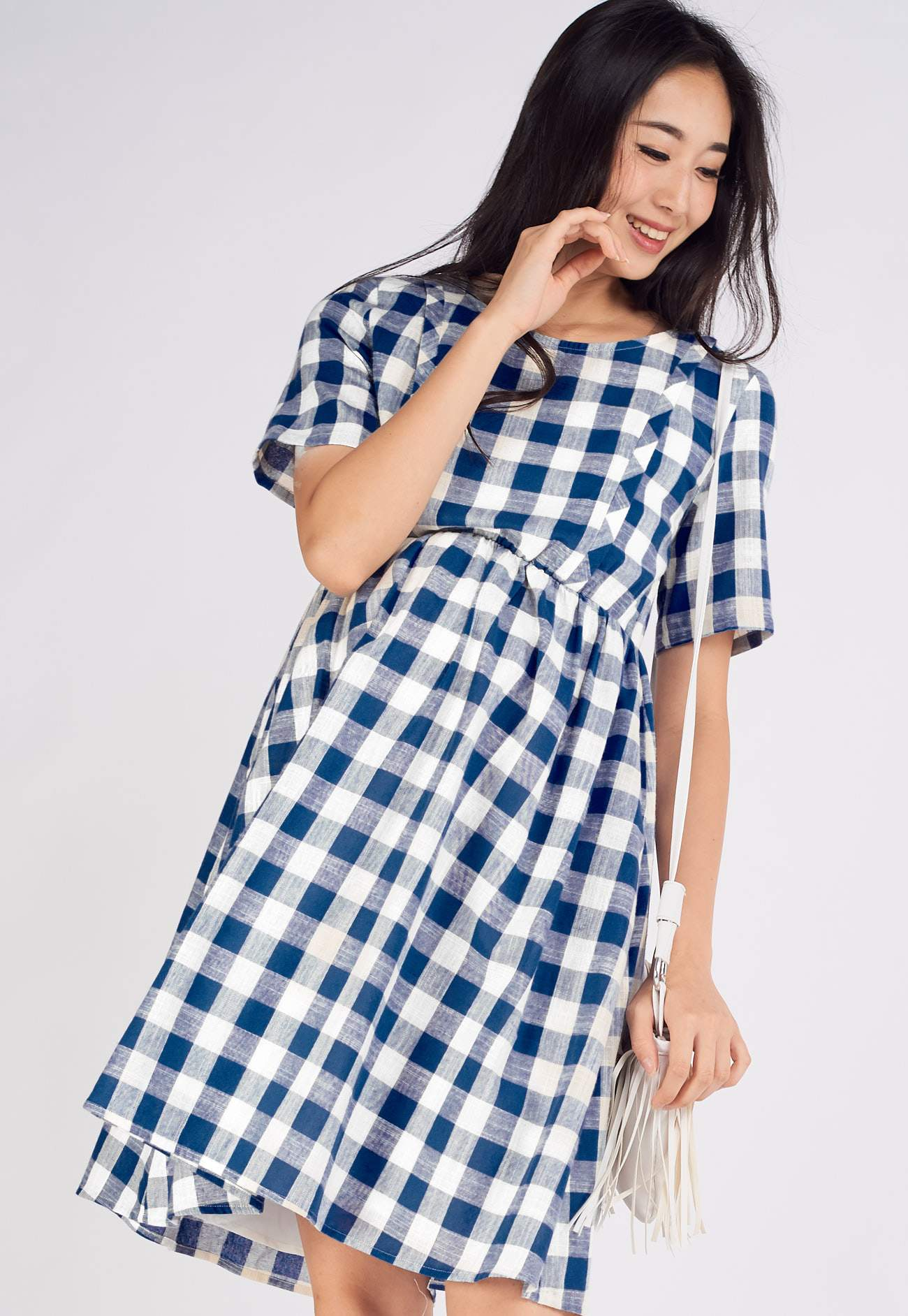 Elliott Plaids Nursing Dress  by Jump Eat Cry - Maternity and nursing wear
