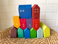 Enstories Coloured House Set  by Jump Eat Cry - Maternity and nursing wear