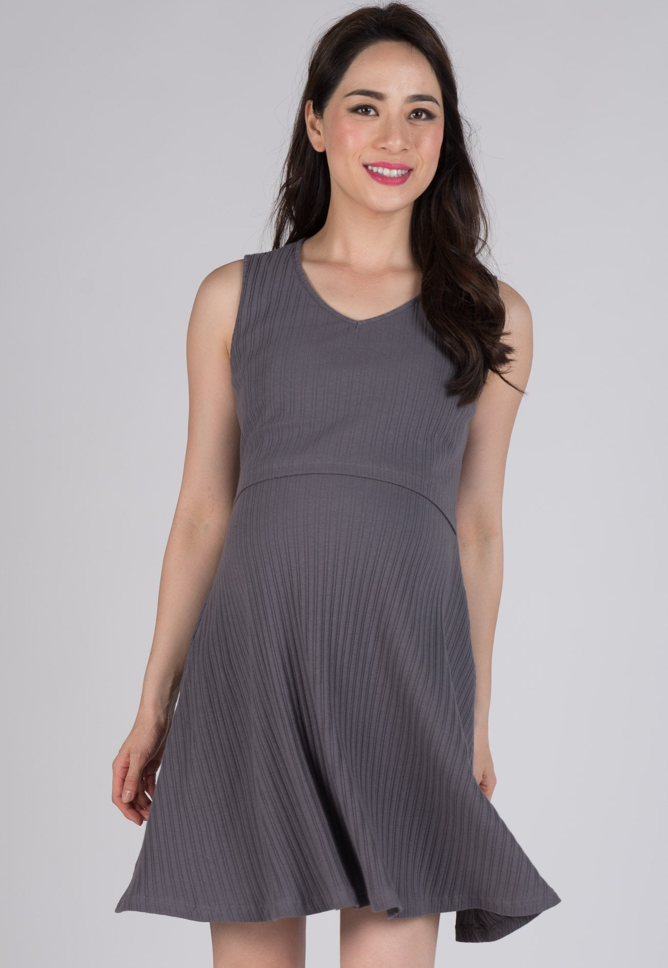 Mothercot Babydoll Knitted Nursing Dress  by JumpEatCry - Maternity and nursing wear