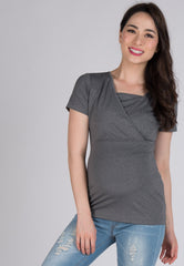 Mothercot Casual Nursing T-Shirt  by JumpEatCry - Maternity and nursing wear