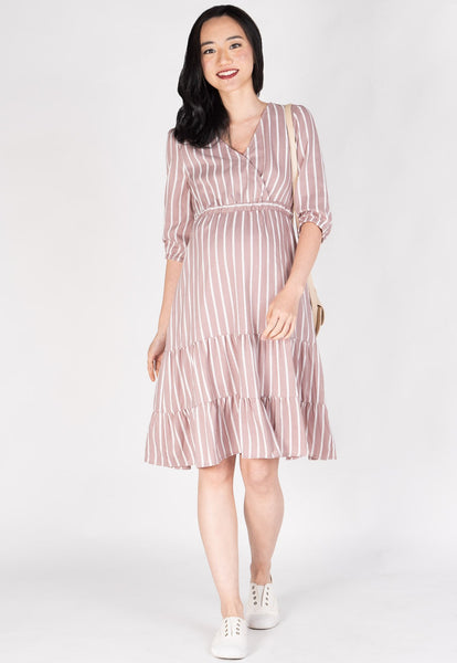 Thought Is Free Nursing Dress in Blush