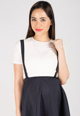 Maya Pinstripe Nursing Dress  by Jump Eat Cry - Maternity and nursing wear