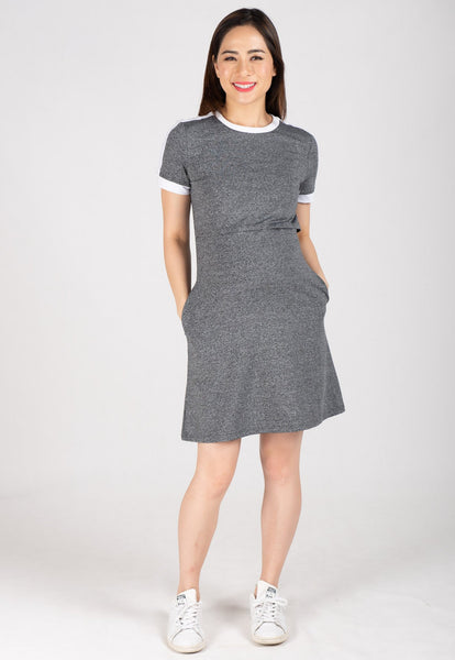 Contrast Nursing Tee Shirt Dress