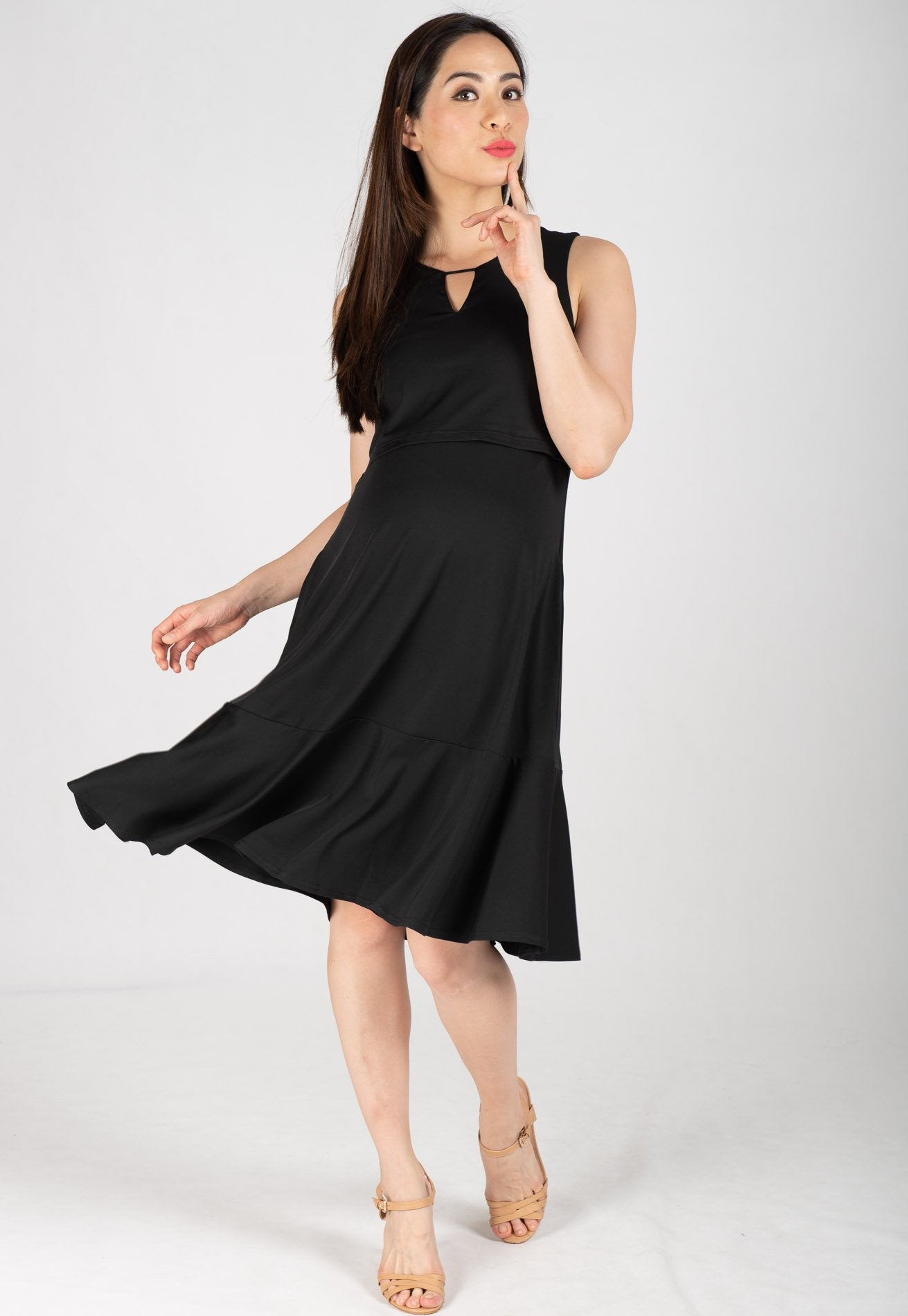 Mothercot Peplum Hem Nursing Dress  by JumpEatCry - Maternity and nursing wear