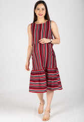Mothercot Fishtail Midi Nursing Dress  by JumpEatCry - Maternity and nursing wear