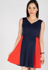 Mothercot Two Toned Swing Dress  by JumpEatCry - Maternity and nursing wear