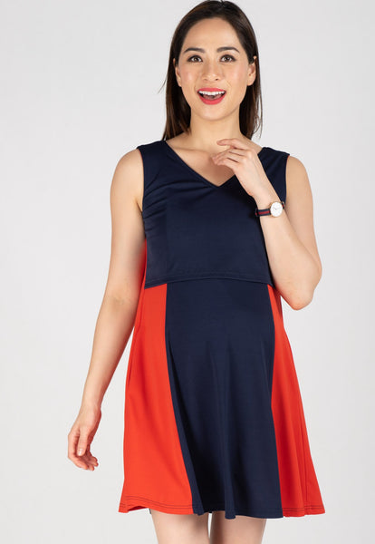 Two Toned Swing Dress