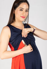 Two Toned Swing Dress  by Jump Eat Cry - Maternity and nursing wear