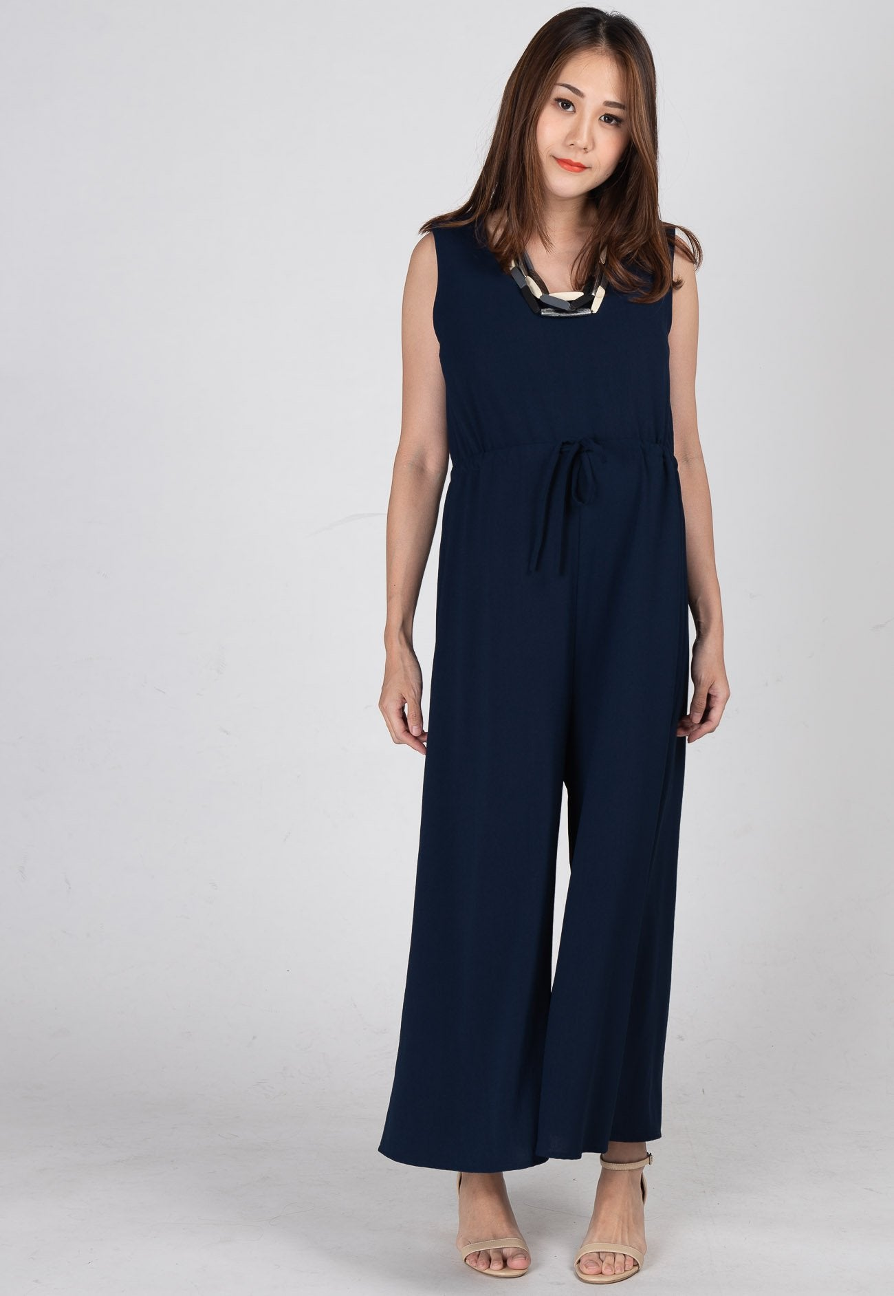 Ariella Nursing Jumpsuit in Dark Blue  by JumpEatCry - Maternity and nursing wear